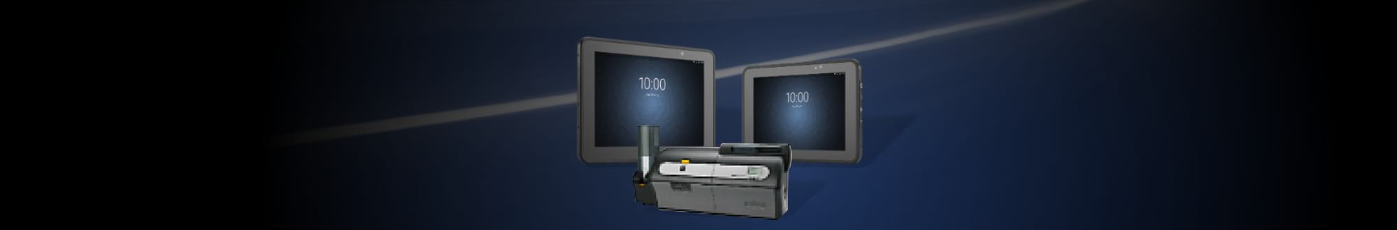 tablet and printer